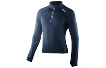 2XU Men's 3/4 Zip Thru Run Top black/black